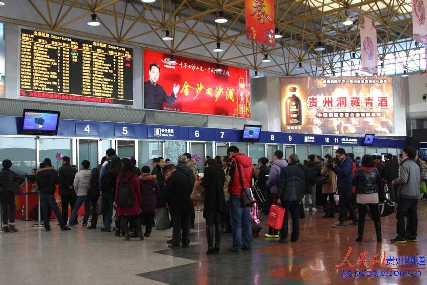 春运期间贵阳机场旅客吞吐量有望破百万人次(组图)