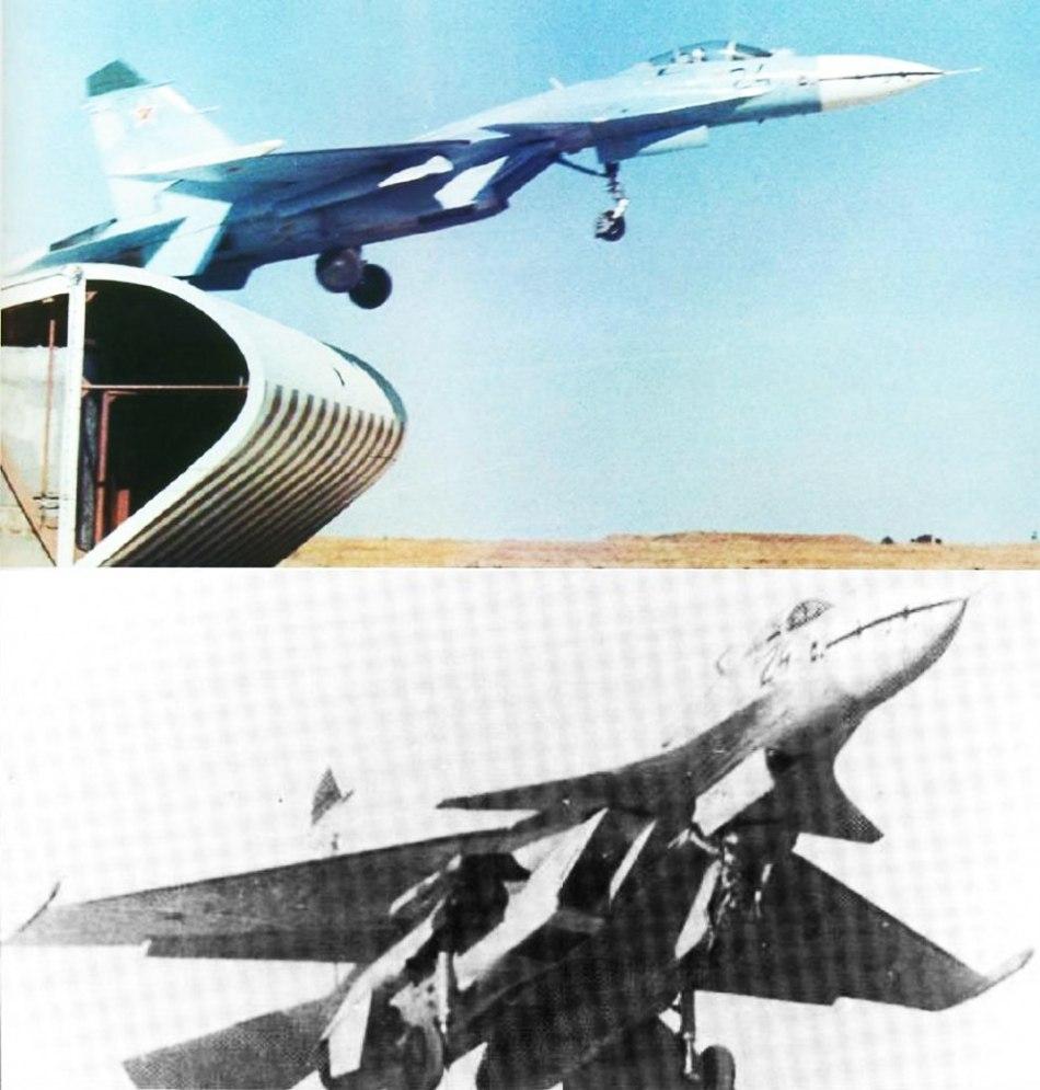 t-10-24)被制造成采用三翼面技术的飞机(1987年坠毁)