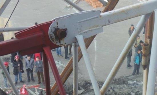 工地发生塔吊倒塌事故