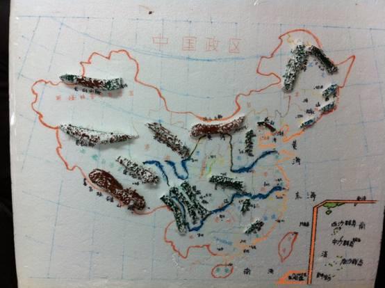 地理手工作品及做法_简单的地理模型制作