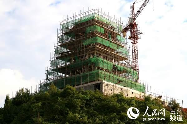建设中的文昌塔