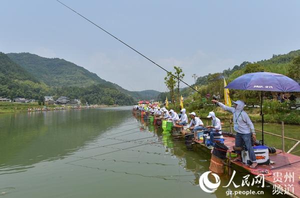 贵州松桃2017年天赐湖首届野钓全国邀请赛在迓驾镇马安村举行
