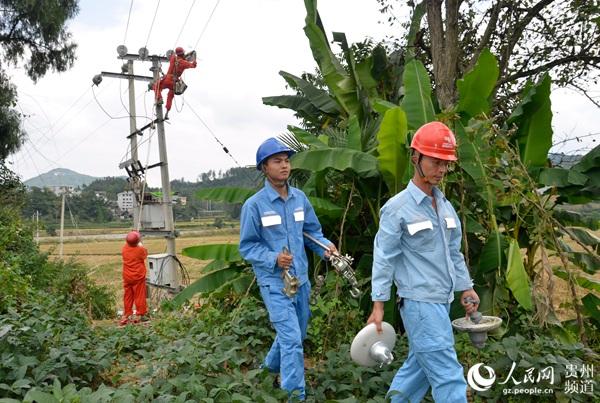 小康电项目施工中。