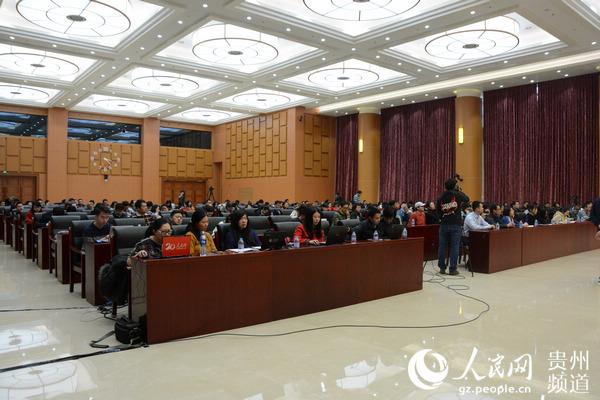 图为2018中国国际大数据产业博览会北京新闻发布会现场。(涂敏 摄)