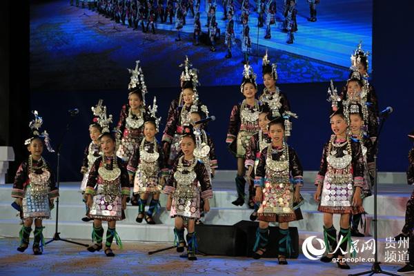 开幕式上的贵州原生态民族文化展示。王钦 摄