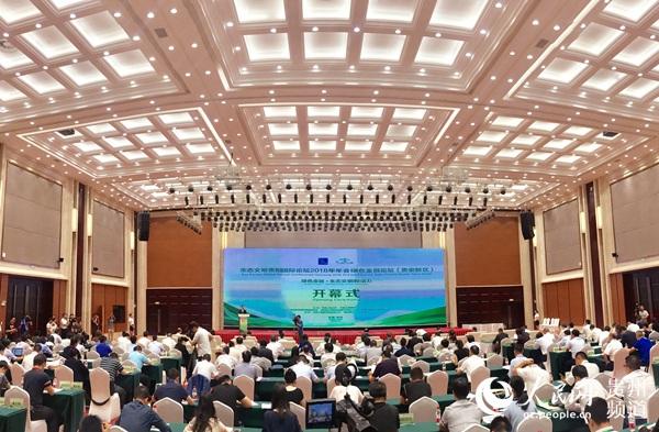 生态文明贵阳国际论坛2018年年会绿色金融论坛(贵安新区)现场。龙章榆 摄