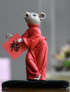"""独""""鼠""""一帜:面塑匠人王玓的鼠年情怀"""